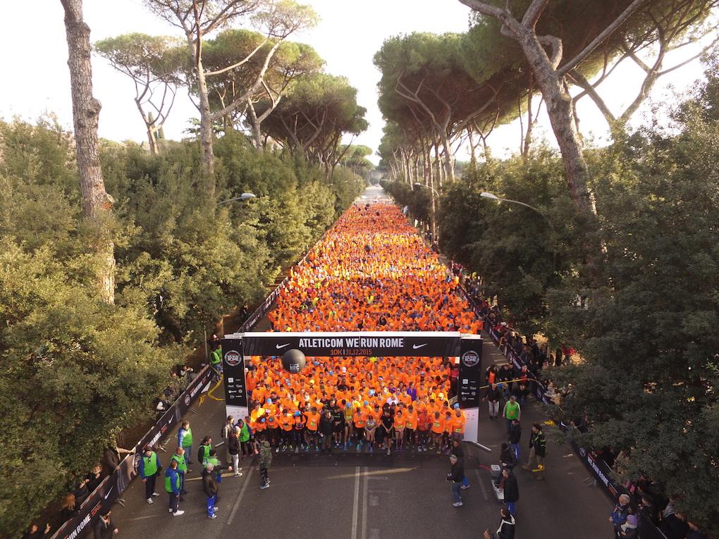 In 8.000 per la We Run Rome 2015: vince Carvalho davanti a Meucci