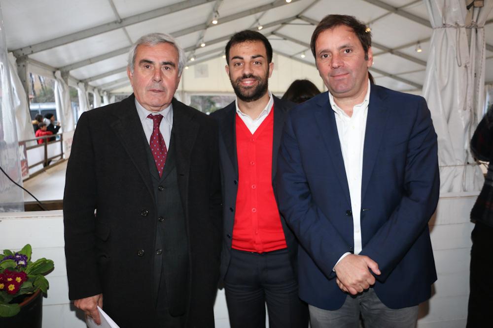 Il presidente del Coni Lazio Riccardo Viola, il presidente del Municipio XIV Valerio Barletta, all'inaugurazione dell'Ice Park Monte Mario