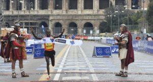 Maratona di Roma finish
