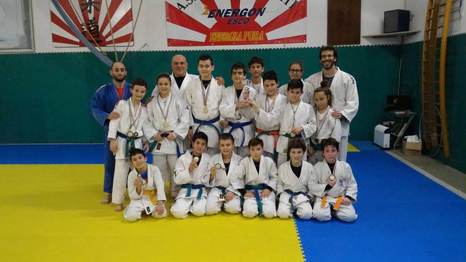Il gruppo di Torino judo Frascati