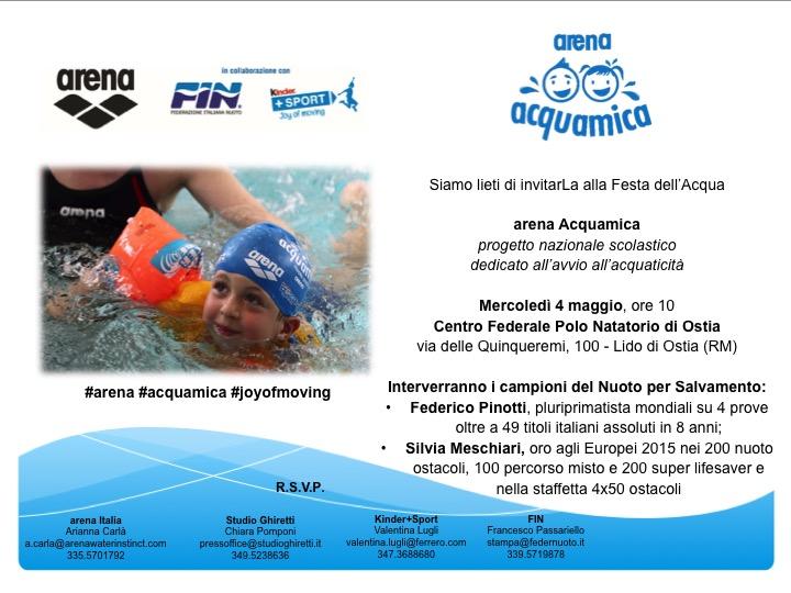 Invito - 4 Maggio arena Acquamica Ostia