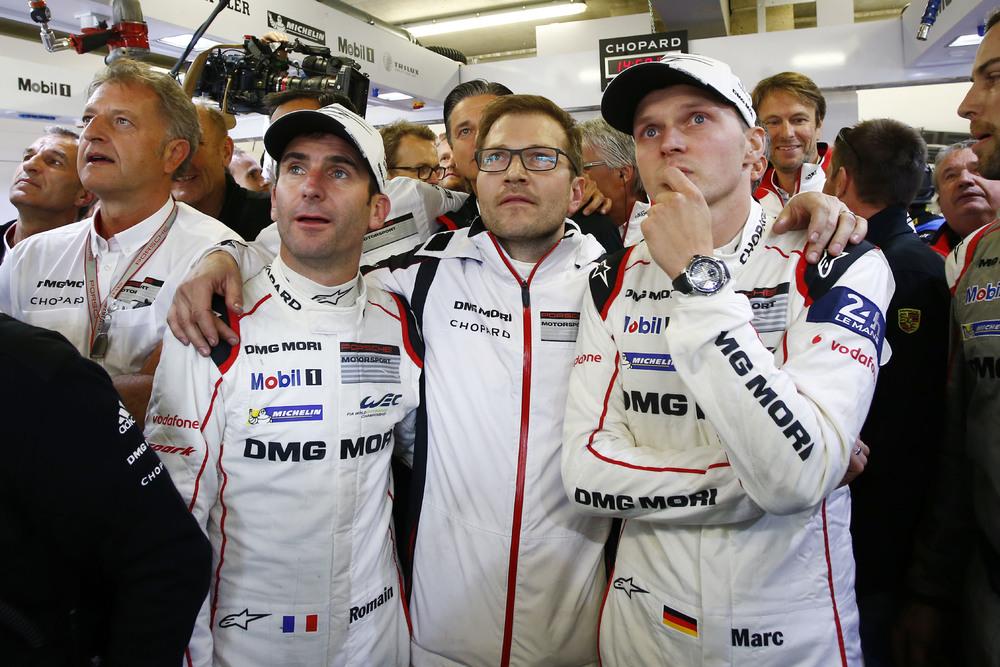 Neel Jani, Andreas Seidl (Team Principal Porsche Team), Marc Lieb