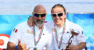 Fabrizio Caselli e Anila Hoxha, campioni italiani Para-Rowing in singolo AS