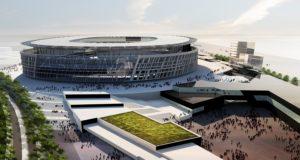 Il plastico del nuovo stadio romanista