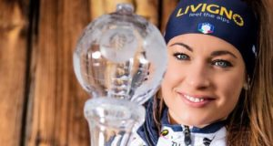 Una immagine tratta dalla pagina di Facebook di Dorothea Wierer, campionessa mondiale di Biathlon 2015/16