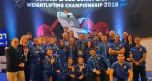 La delegazione azzurra