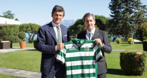 Gianluca Pavanello (ad Macron) e Bruno de Carvalho (Presidente Sporting)
