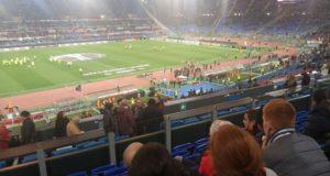 Roma-Villareal poco prima il fischio d'inizio