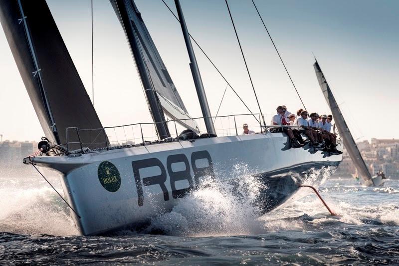 Rambler 88 di George David (USA), vincitore della prima edizione dell'IMA Mediterranean Maxi Offshore Challenge (ph.cr. Rolex / K.Arrigo)