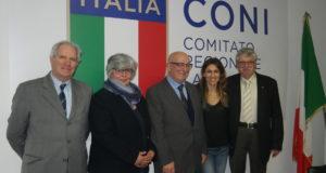 I cinque delegati provinciali del Coni Lazio