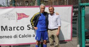 Il presidente del Coni Giovanni Malagò e Andrea Tinarelli, il Presidente del Canottieri Roma
