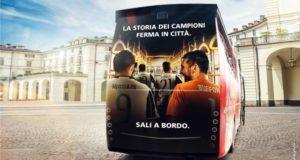 Una immagine del bus collegato al progetto Juventus City Tour (photo credits LaPresse) tratta dal web