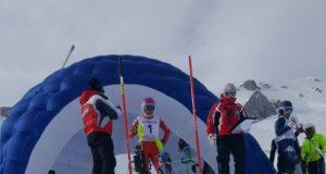 Partenza slalom femminile a Ovindoli