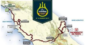 Tirreno-Adriatico, il tracciato