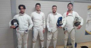 La squadra di spada del Frascati Scherma