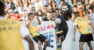 Neymar Jr plays during Neymar Jr's Five at Instituto Projeto Neymar Jr in Praia Grande, Brazil on July 8, 2016