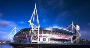L'esterno del Millennium stadium di Cardiff (Galles) scelta dall'Uefa come sede della finale UCL 2017