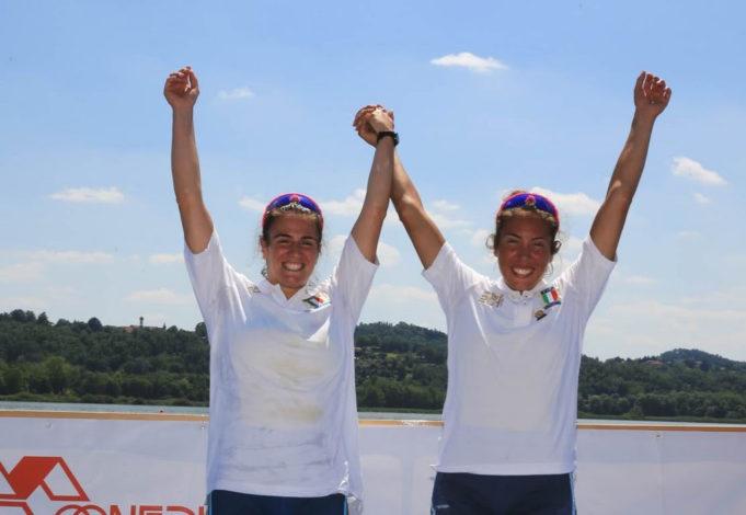 Pappalardo e Serafini, vincitrici del titolo in due senza U23.