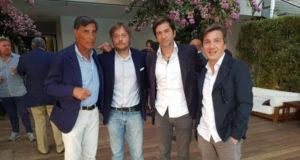Il consigliere alle Manifestazioni Edmondo Mingione, il regista Roberto Capucci, l'attore e sceneggiatore Francesco Apolloni e il produttore Roberto Cipullo