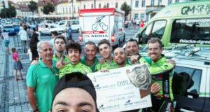 Il GM Europa Ovini premiato per il terzo posto nella classifica a squadre al Sibiu Cycling Tour