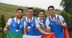 Il quattro senza Di Costanzo, Montrone, Castaldo, Abagnale;