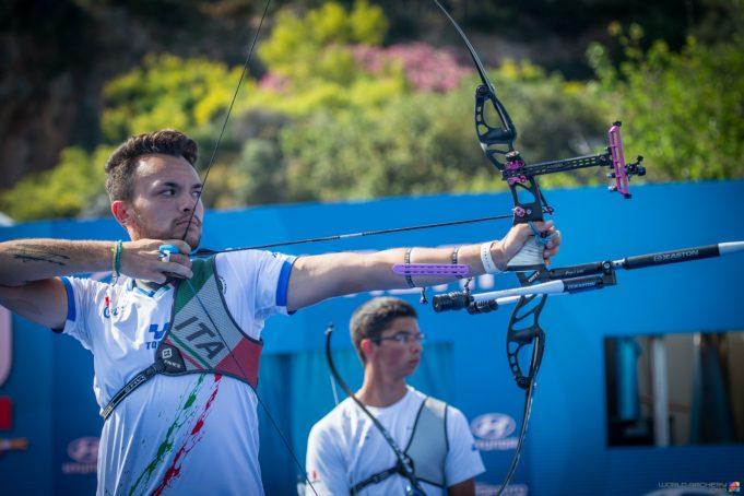 David Pasqualucci nella finale bronzo di Antalya CREDITS WORLD ARCHERY