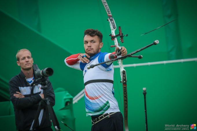 David Pasqualucci ai Giochi di Rio 2016 con il CT Wietse van Alten WORLD ARCHERY