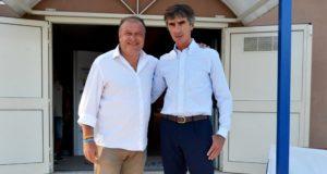 Il Presidente della Fenice Pallavolo, Benedetto Rocco, e il patron del Volleyrò Casal de' Pazzi, Armando Monini