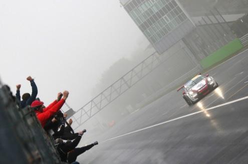 Rovera sul traguardo di Monza