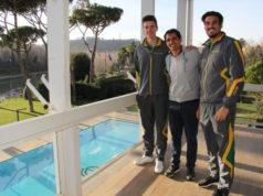 Matteo Lodo, il direttore tecnico del C.C. Roma Bruno Mascarenhas e Giuseppe Vicino
