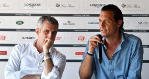 Un momento della conferenza stampa finale di Piazza di Siena - 2017 (a destra Diego Nepi Molineris - direttore marketing CONI)