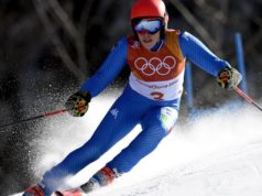 epa06525927 Federica Brignone of Italy in action during the Women's Giant Slalom race at the Yongpyong Alpine Centre during the PyeongChang 2018 Olympic Games, South Korea, 15 February 2018. EPA/DANIEL KOPATSCH