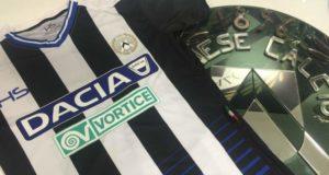 Una immagine tratta dal sito dell'Udinese sulla maglia sponsorizzata dal nuovo partner Vortice