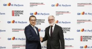 Azzam Almutawa (Amministratore Delegato Kuwait Petroleum Italia) e Pietro Innocenti (Direttore Generale Porsche Italia)