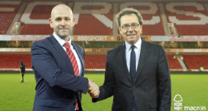 David Cook (commercial Director NFFC) + Roberto Casolari (Director of Sports Marketing Macron)