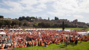 Il Fun run village a Circo Massimo