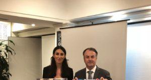 Il Presidente Claudio Malfatti con il capitano Angelita Centi