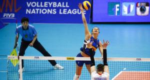 VNL - Serena Ortolani in azione contro la Russia (Foto Fivb)