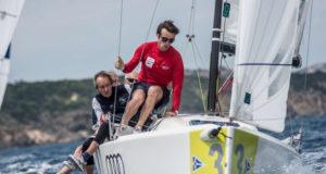 Il team dello Yacht Club de Monaco in regata. Foto credit YCCS/Alessandro Spiga