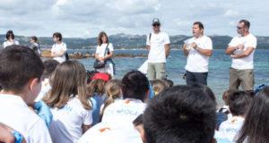 Il gruppo di ricercatori del CNR di Oristano con Andrea de Lucia durante il YCCS Clean Beach Day 2018. Foto Credit: Marco Ferrando
