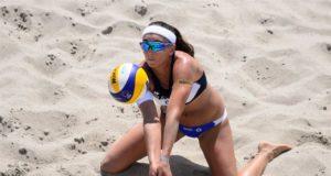 Europei di Beach Volley - Marta Menegatti in azione