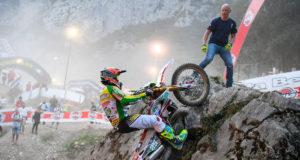 Matteo Cavallo in trionfo al GP del Trentino The Wall (Ph. Dario Agrati)