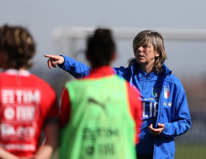 ROME, ITALY - APRIL 03: Italy women head coach Milena Bertolini attends the Italy women training and portrait session on April 3, 2018 in Rome, Italy. (Photo by Paolo Bruno/Getty Images)