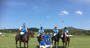 La squadra italiana vittoriosa ieri. Ph. Equi-Equipe