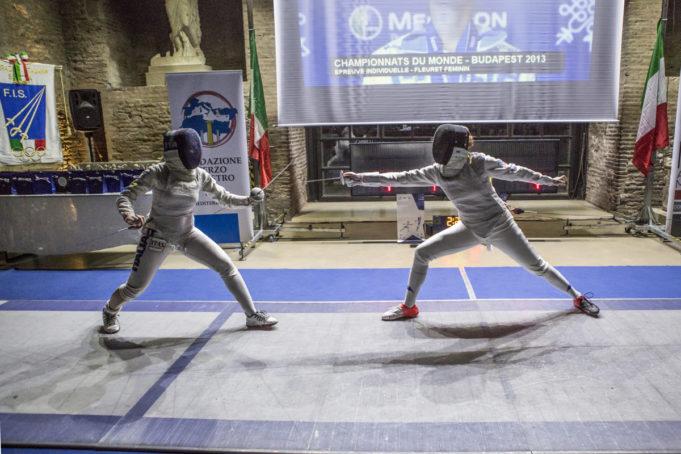 Roma Italy - 25 Nov 2017 - Terme Diocleziano in Roma - Una Stella Per Marta