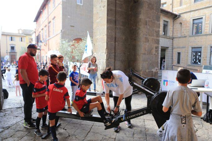 Nepi (VT) Italy - 21 Oct 2018 - Piazza del Municipio in Nepi (VT) - CONI Lazio e Regione per il progetto Coni E Regione Compagni di sport