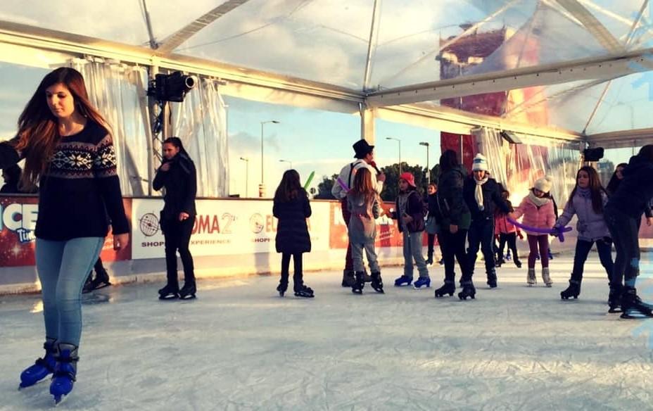 Pattinaggio, aperto l'ice park di Euroma 2
