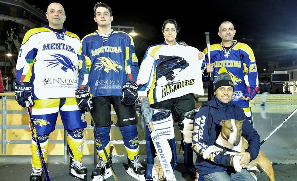 Ice Park, Mentana Hockey Team in scena a Piazza San Giovanni de Lasalle