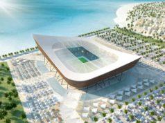 Un'immagine di un rendering di uno stadio di Qatar2022