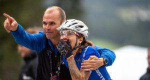 Il CT della Nazionale Italiana Mountain Bike e organizzatore dell'Andora Bike Race Mirko Celestino con Marika Tovo ai Campionati del Mondo di Mountain Bike 2018 - (Credits: Michele Mondini)